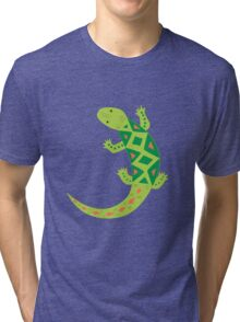 Bright Lizard Vector Illustration Tri-blend T-Shirt