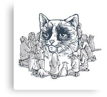 the worship of cat  Canvas Print