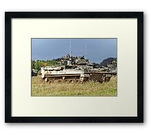 British Army Warrior Infantry Fighting Vehicles Framed Print