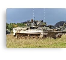 British Army Warrior Infantry Fighting Vehicles Canvas Print