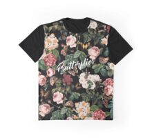 Floral and Butterflies Graphic T-Shirt