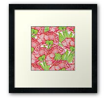 Watercolor Floral pattern Framed Print