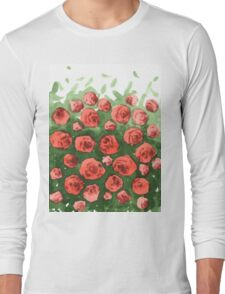 Roses gradient Long Sleeve T-Shirt