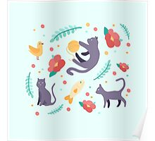 The Curious Cat Poster