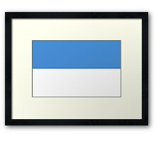 Planet of Hoth Flag Framed Print