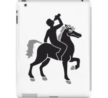 drink booze party beer Oktoberfest alcohol drink drunk black cool riding horse stallion equestrian comic cartoon iPad Case/Skin