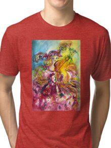 ARLECCHINA  VIOLINIST / Venetian Carnival Night Tri-blend T-Shirt
