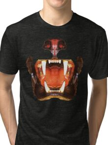 roaring mouth of the beast, in colors suitable Tri-blend T-Shirt