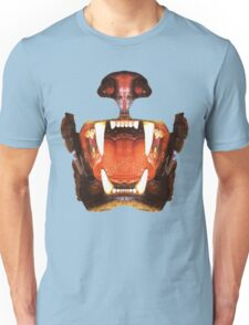 roaring mouth of the beast, in colors suitable Unisex T-Shirt