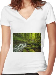 Forest Zen Women's Fitted V-Neck T-Shirt