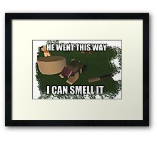 I Can Smell It Unturned Merchandise Framed Print