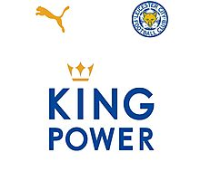 Leicester City FC logo blue font Photographic Print