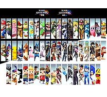 Super Smash Bros. For Nintendo 3DS/ Wii U Poster Photographic Print