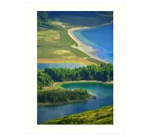 Colorful lake Art Print