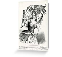 Freedom to Ireland - 1866 - Currier & Ives Greeting Card