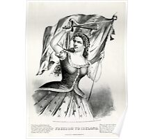 Freedom to Ireland - 1866 - Currier & Ives Poster