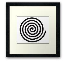 The eye bender rough spiral Framed Print