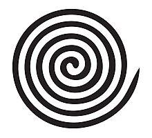 The eye bender rough spiral Photographic Print