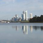 Swan River Reflections. Perth. Western Australia by Kay Cunningham