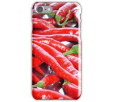 Market Fresh Red Chili Peppers iPhone Case/Skin
