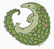 Leafy Green Pangolin Kids Tee