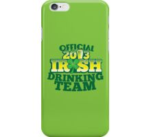 Official 2013 IRISH Shirt with beer pint and a shamrock iPhone Case/Skin