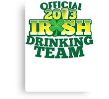 Official 2013 IRISH Shirt with beer pint and a shamrock Canvas Print