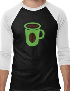 Green coffee mug cute! Men's Baseball ¾ T-Shirt