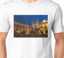 Of Rearing Sea Horses and Mermen Riders - Diana Fountain in Syracuse, Sicily Unisex T-Shirt