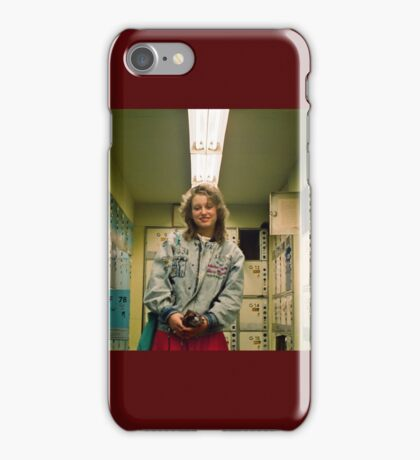 East Berlin. 1989. Friedrichstrasse, border check point East - West. iPhone Case/Skin