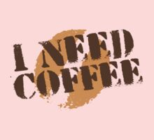 I NEED COFFEE with coffee bean hipster One Piece - Long Sleeve