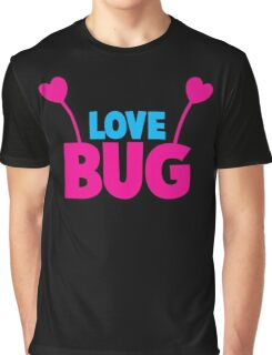 LOVE BUG! ladies or mens cute design with bug antennae Graphic T-Shirt