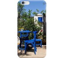 Blue chairs iPhone Case/Skin