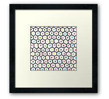 hexagons and dots Framed Print
