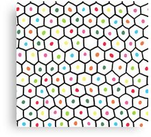 hexagons and dots Canvas Print