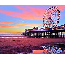 Central Pier Blackpool UK Photographic Print