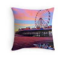 Central Pier Blackpool UK Throw Pillow