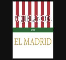 ROJIBLANCOS or EL MADRID Kids Tee