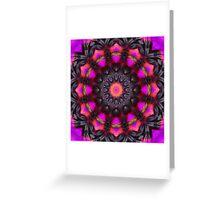 Surreal Blossoms 001, Flower Mandala Greeting Card