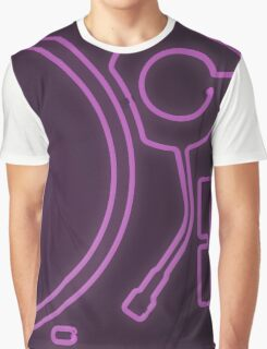 Neon Turntable 1 - 3D Art Graphic T-Shirt