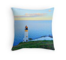 Maughold Head Lighthouse Isle of Man Throw Pillow