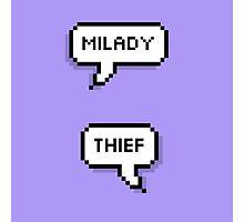 Milady/Thief Photographic Print