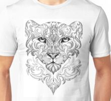 Beautiful hand-painted snow leopard Unisex T-Shirt