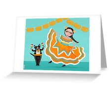 Dancing Frida and Kitty Greeting Card