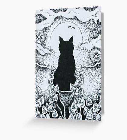 Magick Cat Greeting Card