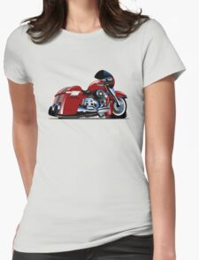 Cartoon Motorbike Womens Fitted T-Shirt