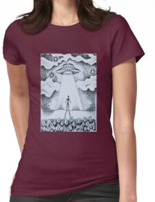 Beam Me Up Womens Fitted T-Shirt