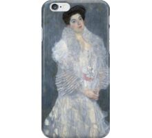 Gustav Klimt - Portrait Of Hermine Gallia  iPhone Case/Skin