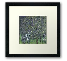 Gustav Klimt - Roses Under The Trees-   Gustav Klimt - Landscape Framed Print