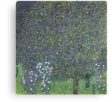 Gustav Klimt - Roses Under The Trees-   Gustav Klimt - Landscape Canvas Print